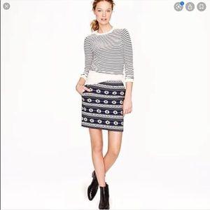 🆕 item J. Crew Floral Jacquard skirt